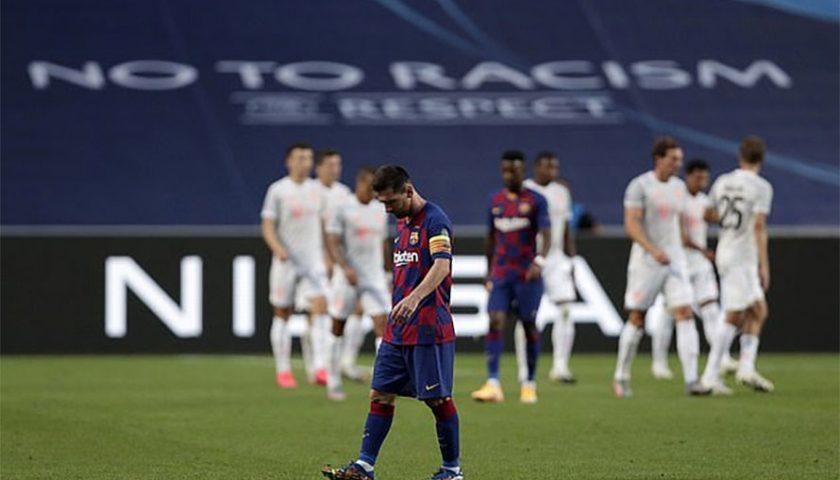 बायर्नसँग बार्सिलोनाको लज्जास्पद हार, ८–२ ले पराजित हुँदै क्वाटरफाइनलबाटै बाहिरियो