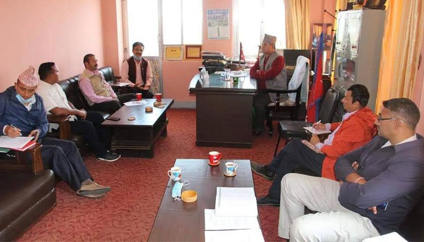 जिल्ला समन्वय समिति दोलखाले स्थानिय निकायको प्रथम चौमासिक कार्यसम्पादन अनुगमन सुरु