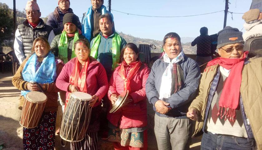 बाद्यवादन, लाखेनाच प्रशिक्षण उद्घाटन र नेवाः दे दवु शैलुङ गाउँपालीका समिती गठन