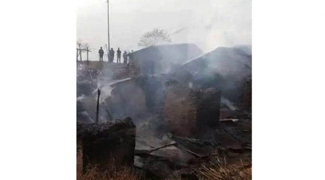 आगालागीले चार घर नष्ट