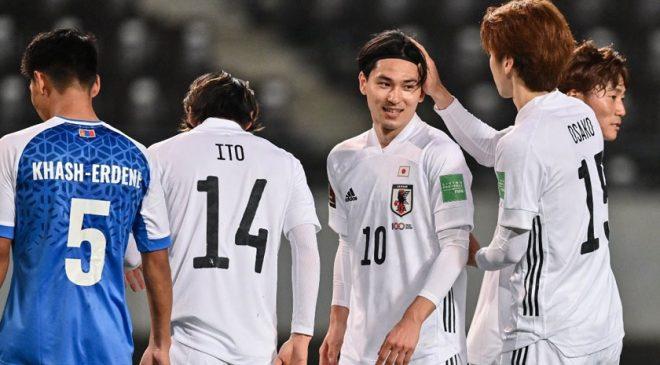 फिफा विश्वकप छनौटमा मंगोलियाविरूद्ध जापानको १४ गोल