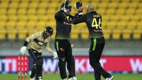 न्युजिल्यान्डविरुद्धको टीट्वेन्टी क्रिकेट शृंखलामा अस्ट्रेलियाको शानदार सुरुवात, पहिलो खेलमा ६४ रनले विजयी