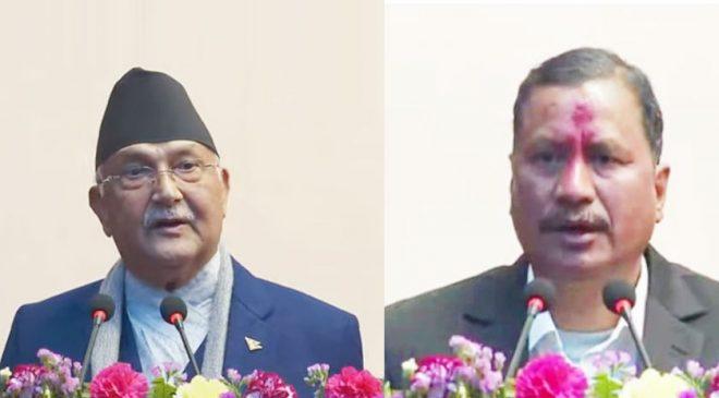 नेपाल शान्तिपुर्ण इतिहासमा प्रबेश गरेको छ, अब  हिंसात्मक द्वन्द्व हुने छैन : प्रधानमन्त्री ओली